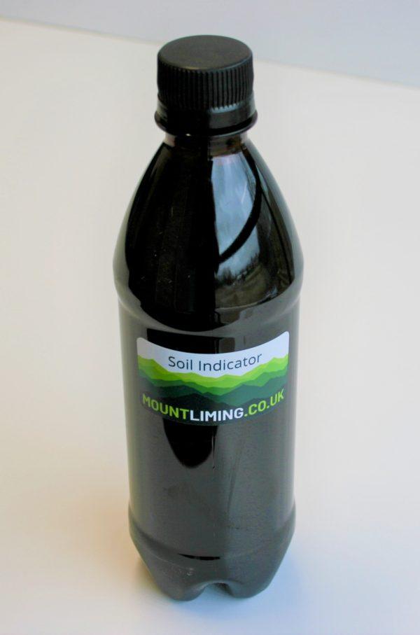 Bottle of soil indicator